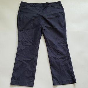 NY& CO dark gray straight leg career pants